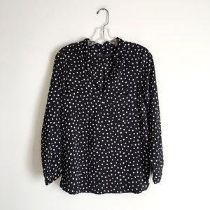 Zara | Black and White Polka Dot Blouse